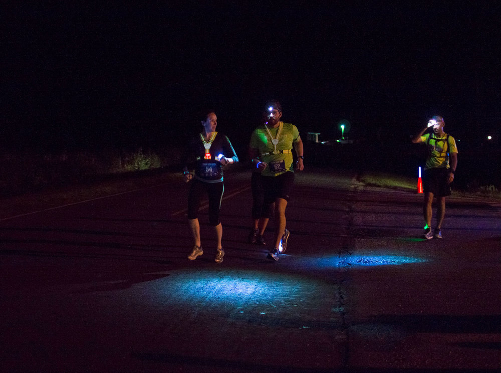 Tuna Run 200 Race Report - Leg 2 - Night running