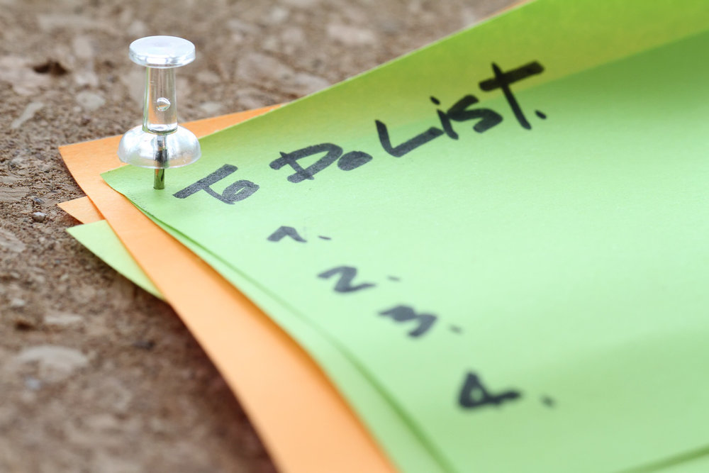 Make a to do list, a packing list, and plan other logistics in that extra time you have during taper week. (NOTE: This is NOT my image. Good ol' Adobe Stock.)