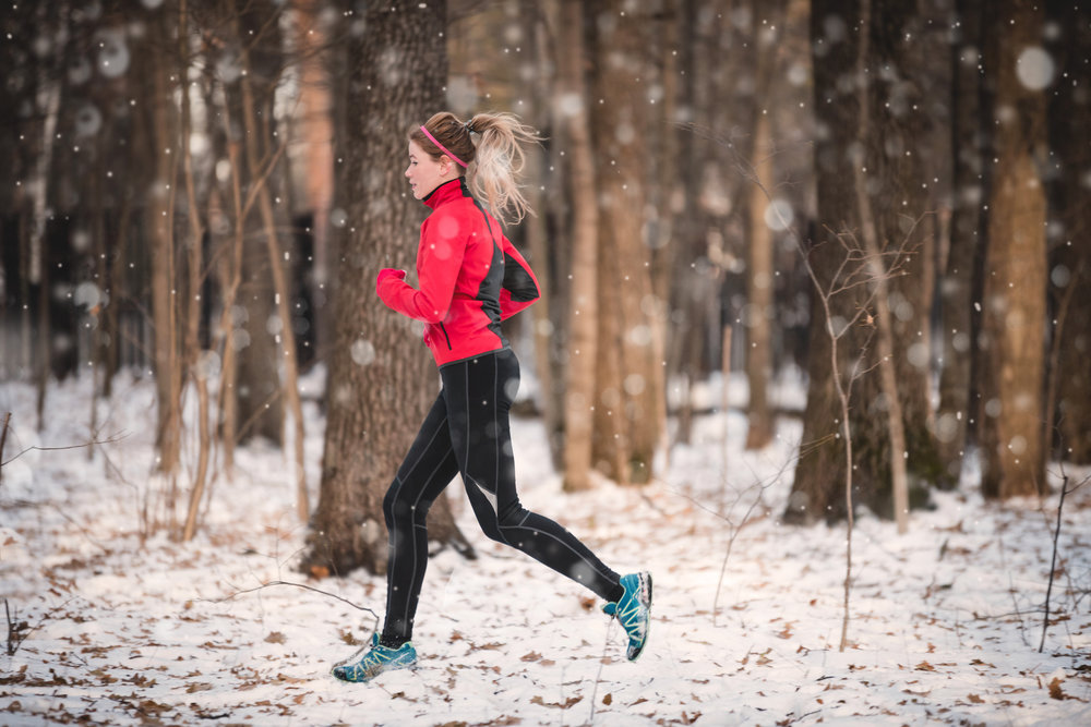 Not my photo. Adobe Stock. Because let's face it: running in Durham in winter is never this snowy and pretty. ::sigh::