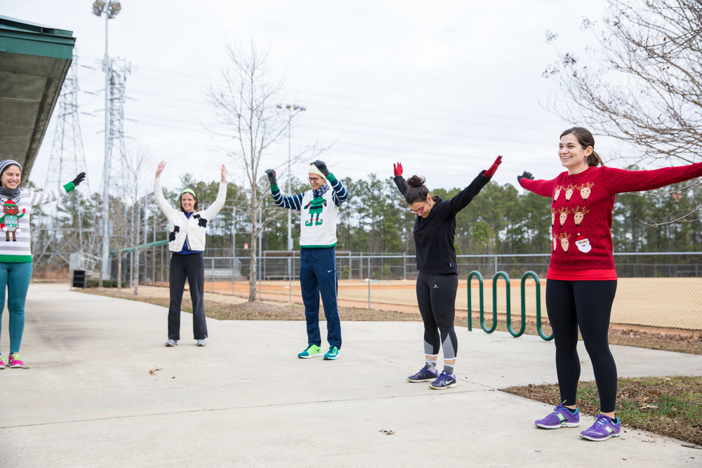 It's not a running event with Fleet Feet runners without some proper dynamic warm-ups