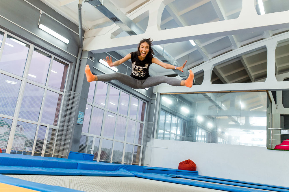 Indoor trampoline park! (Licensed Adobe stock image)