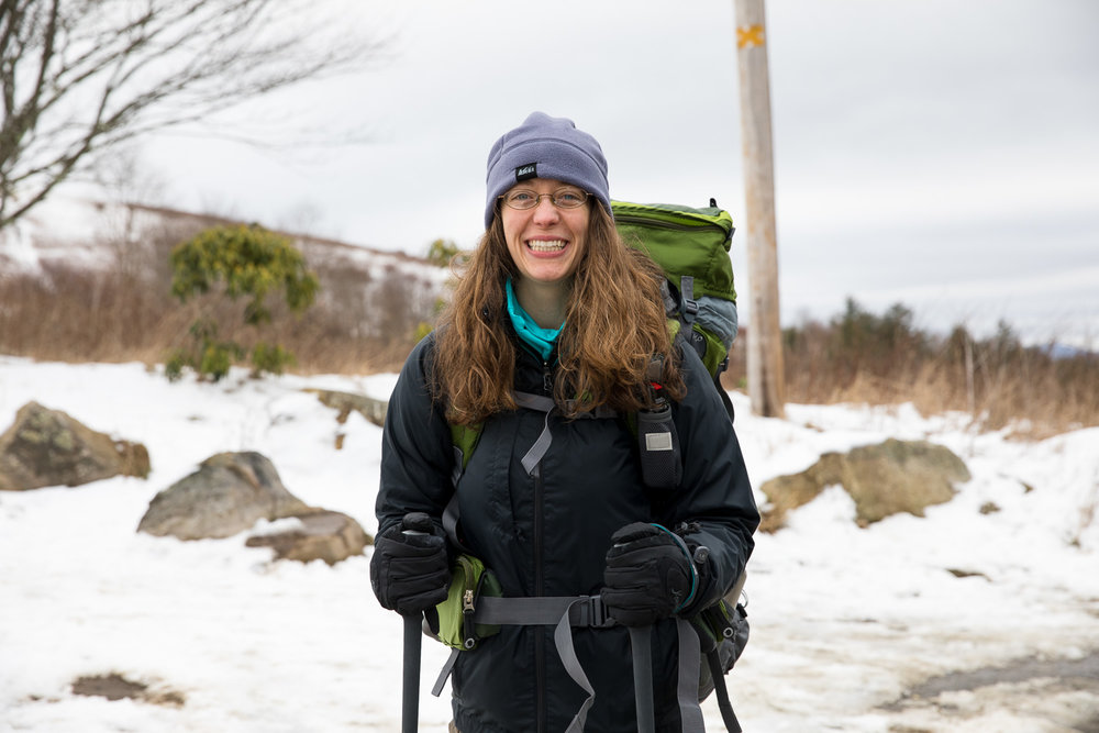 Happy newbie backpacker on the Appalachian Trail!