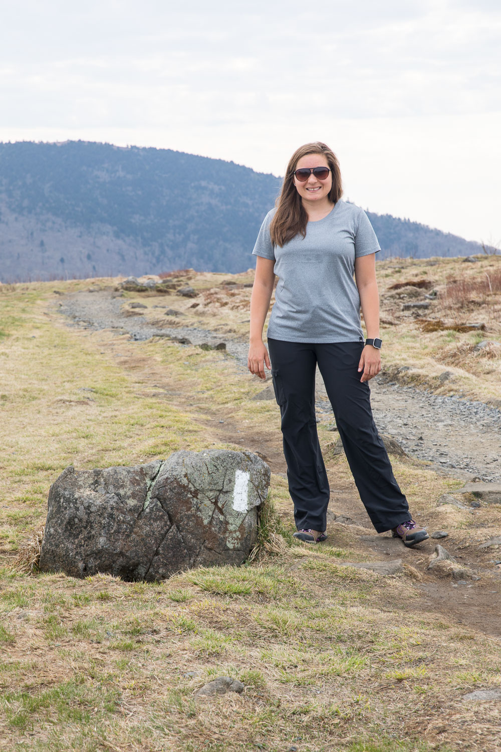 Sherry on Round Bald on the Appalachian Trail