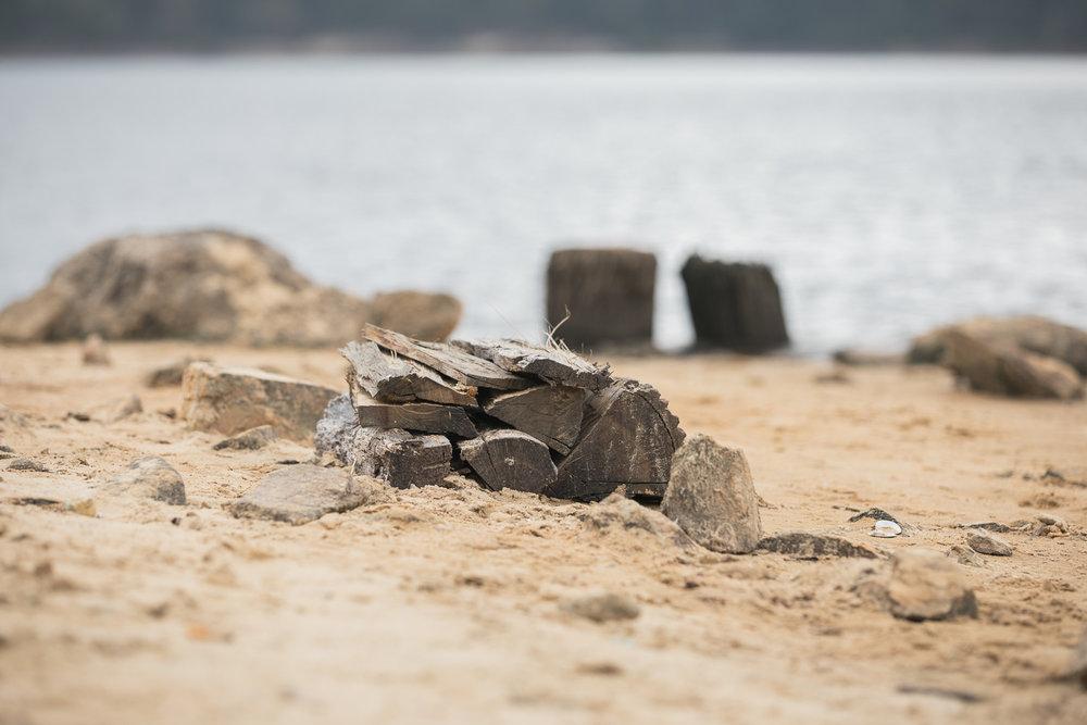 Jordan Lake abandoned island