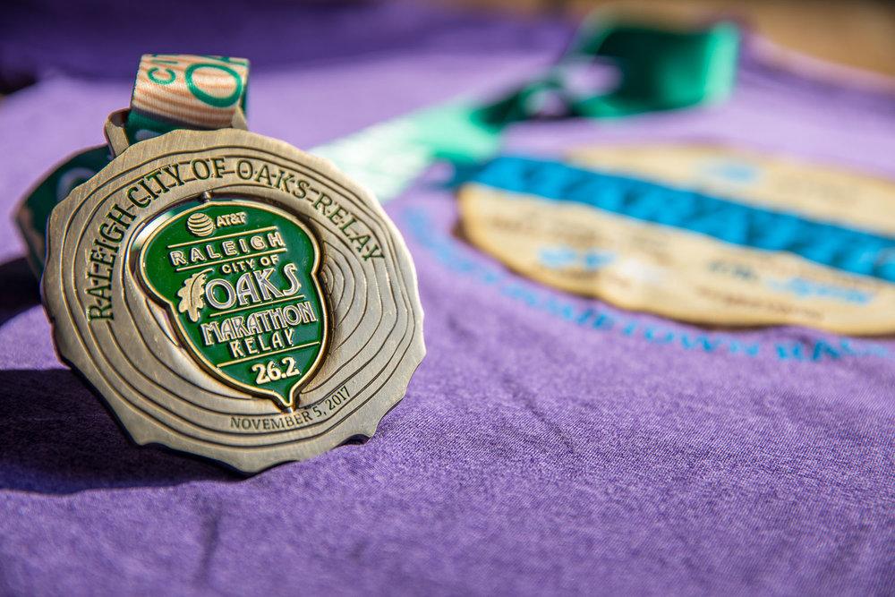 City of Oaks Marathon Medal