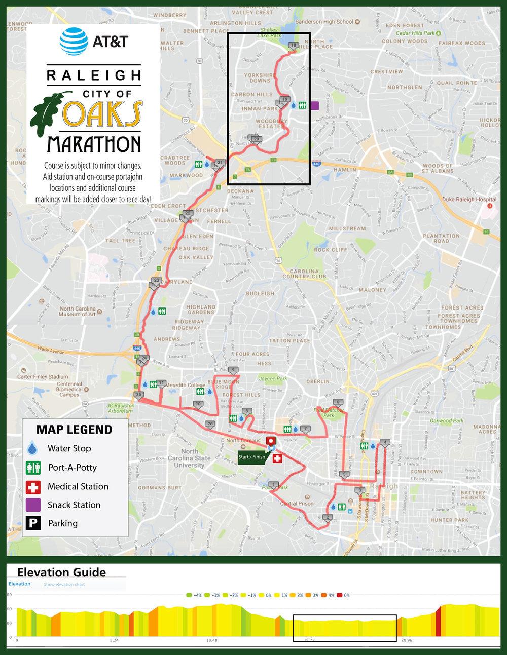City of Oaks leg 3 map