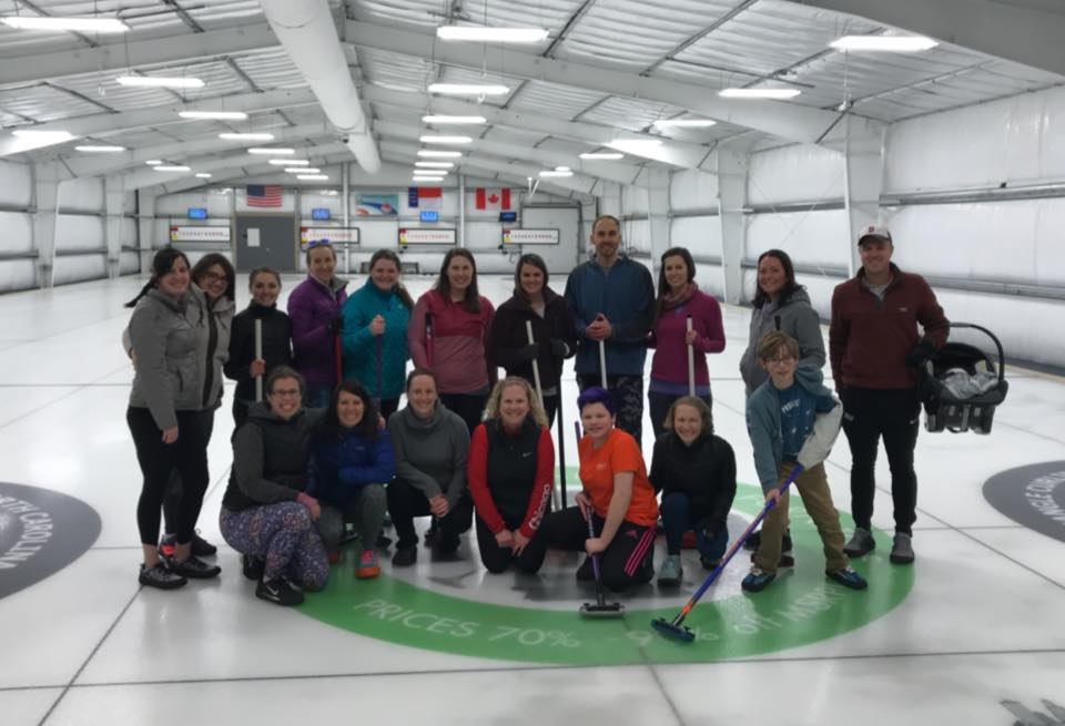 Oiselle Volee Outing at Triangle Curling Club. Photo credit: Michelle Ames