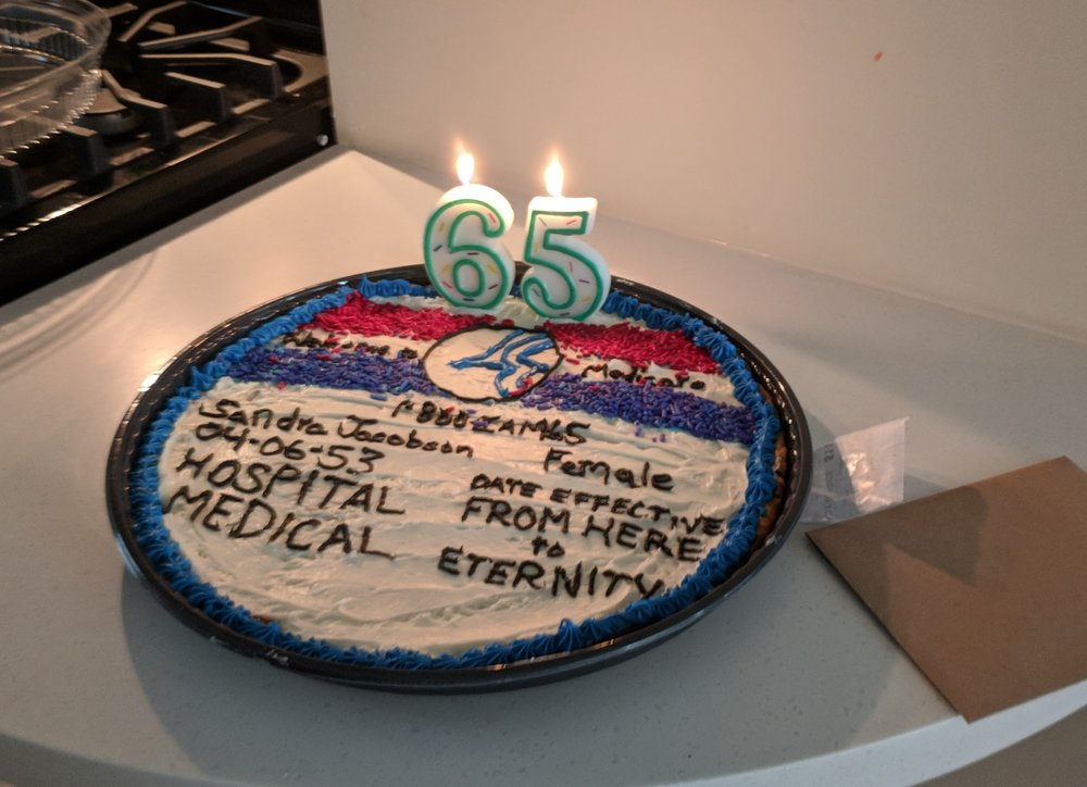Party hard, get your Medicare card cookie cake