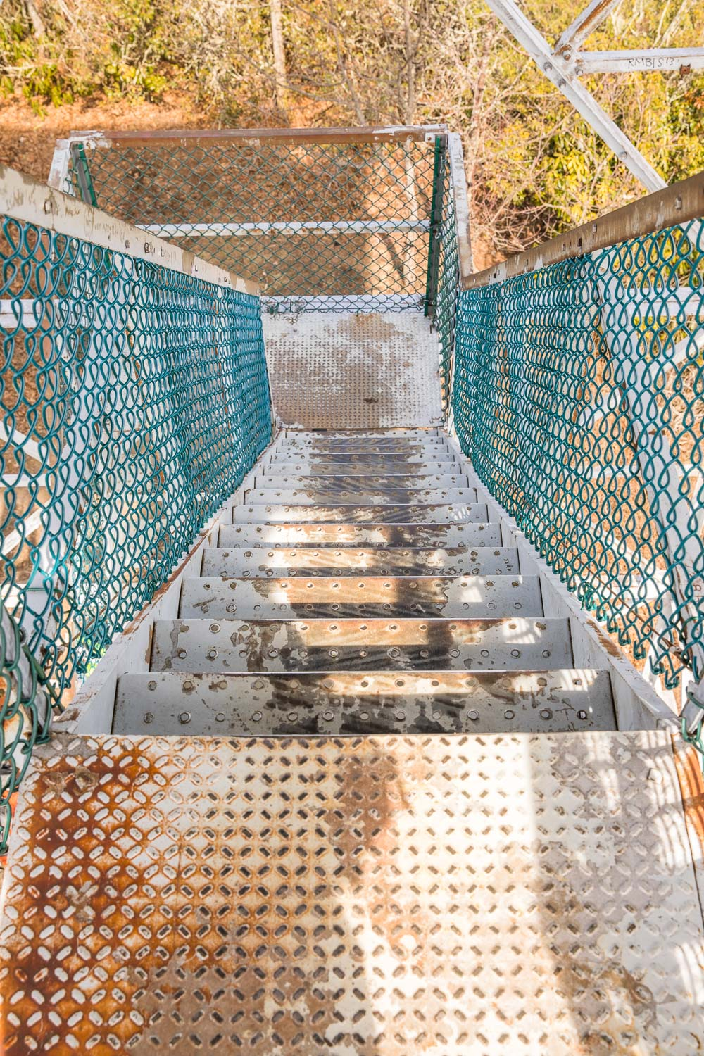 Albert Mountain fire tower stairs