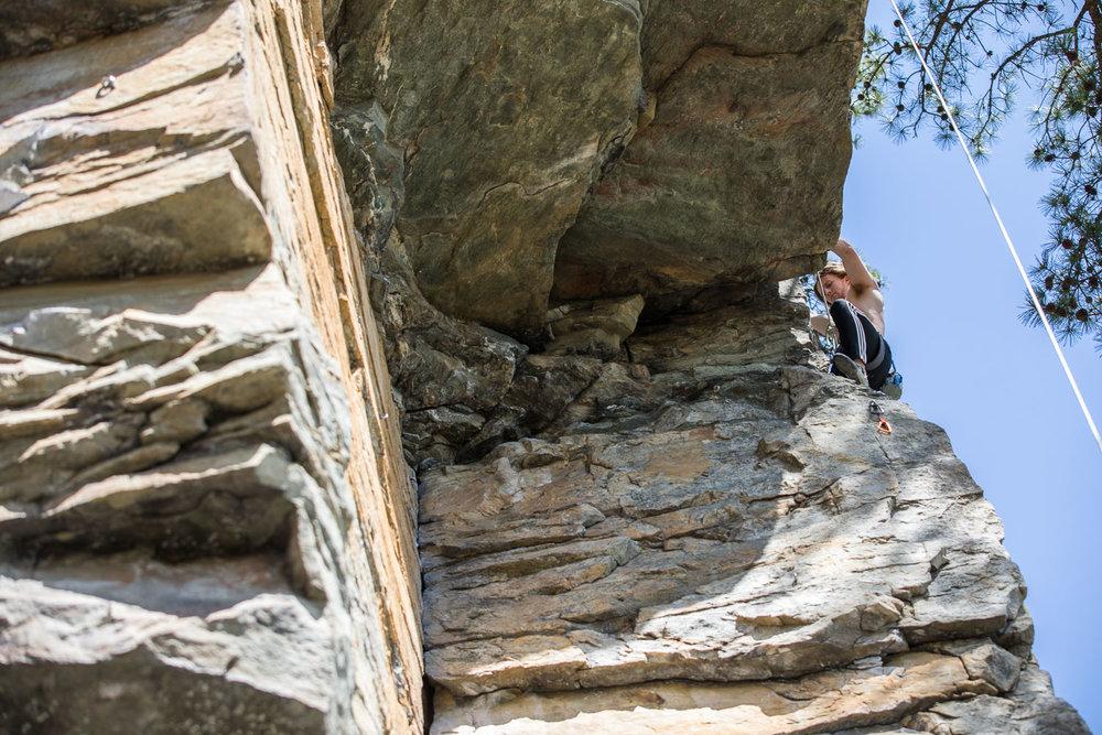 Climbing at Pilot Mountain
