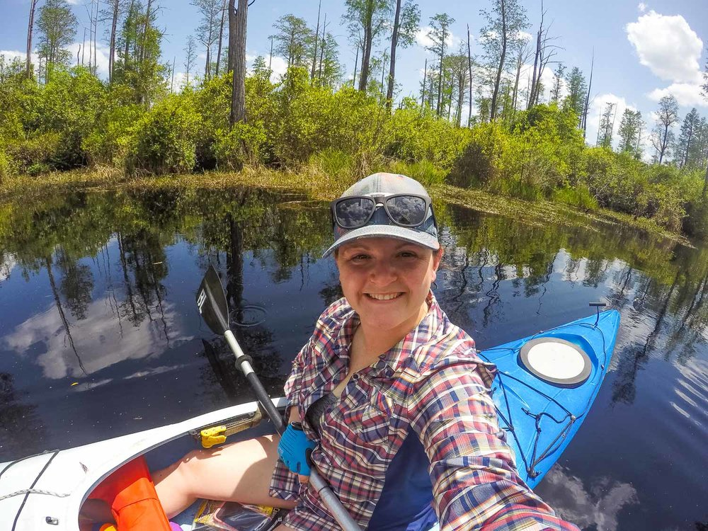 Kayaking in Okefenokee swamp