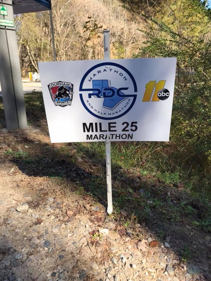 RDC Marathon Mile Marker