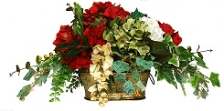 Lisa-Red Olive Green Ivory Hydrangea Centerpeice White background small.jpg