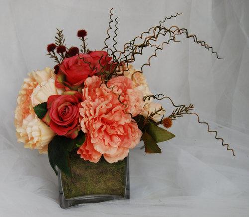 Silk flower arrangements roses centerpieces modern flower silk flower arrangements roses centerpieces modern flower arrangements coral silk flowers peony arrangement mightylinksfo