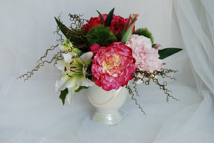 Silk flower arrangements pink peony hydrangeas tiger lillies and silk flower arrangements pink peony hydrangeas tiger lillies and green dianthus silk peony hydrangeas silk flowers floral centerpiece mightylinksfo