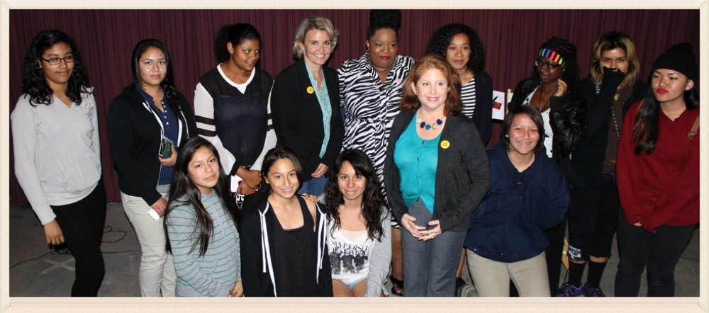 Girls from the Venice, CA Boys and Girls Club attend screening in Beverly Hills, CA