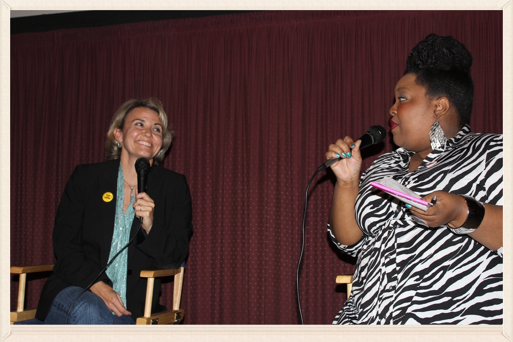 Chenese Lewis moderates a Q+A with Jennifer Lee, Beverly HIlls, CA