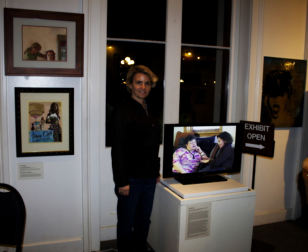 Jennifer Lee at the From Her exhibit at the historic Pico House in Downtown Los Angeles