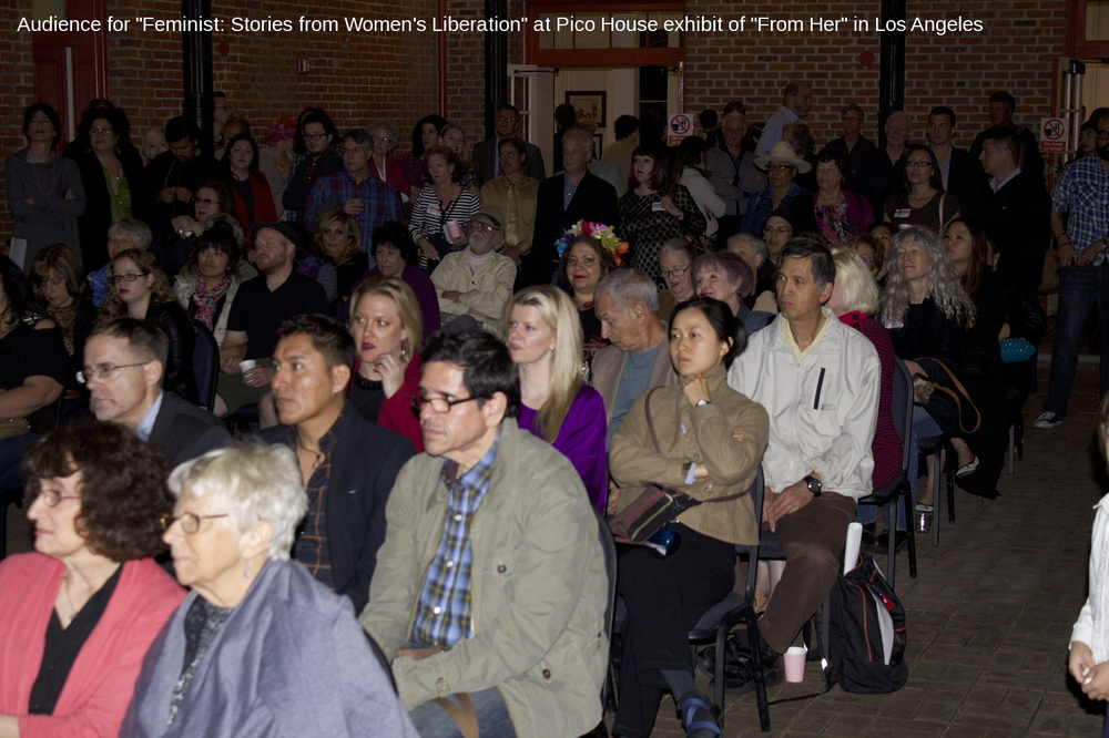 "The audience for the opening night screening at ""From Her"" exhibit."