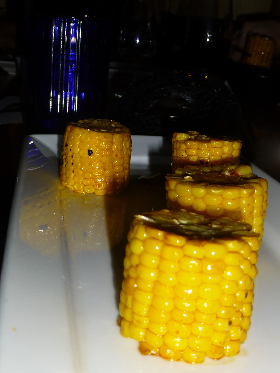 Sweet roasted corn with miso paste