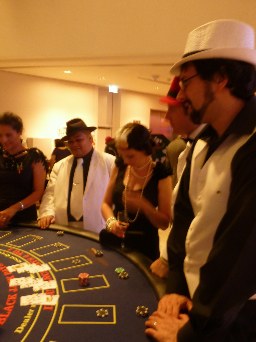 The scene around the Black Jack table