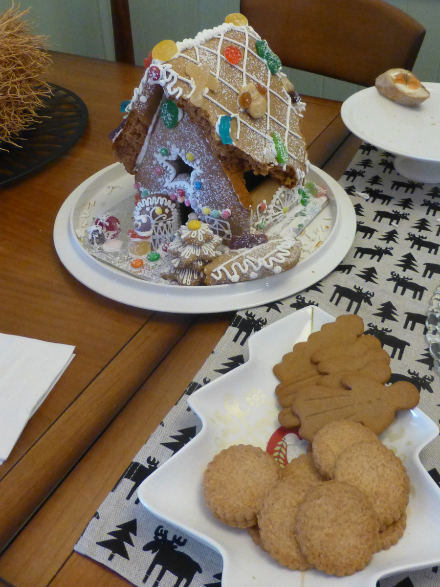 The gingerbread house gets demolished