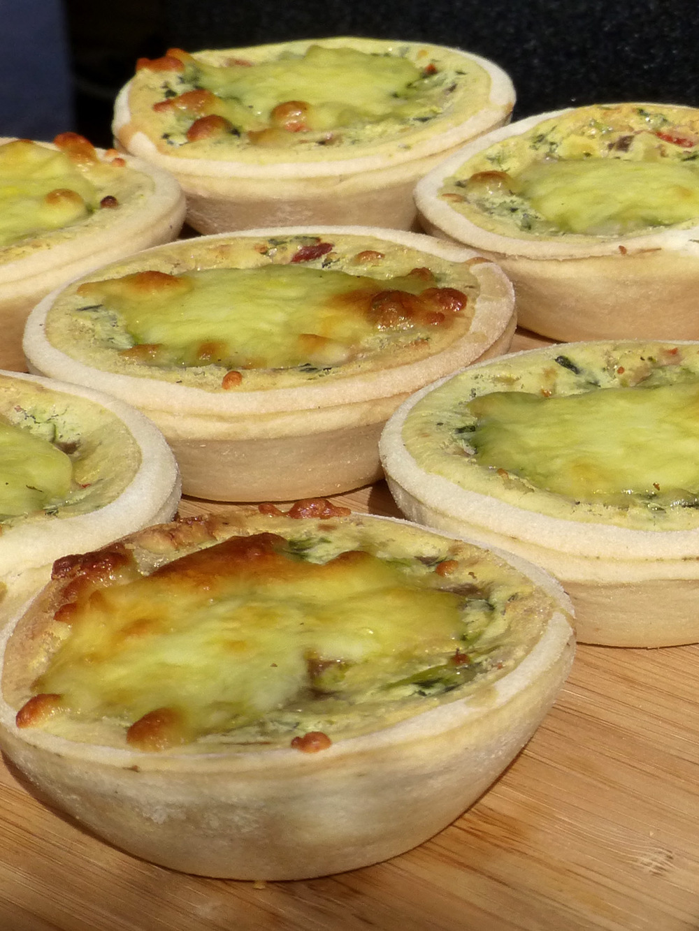 Vegetable quiches