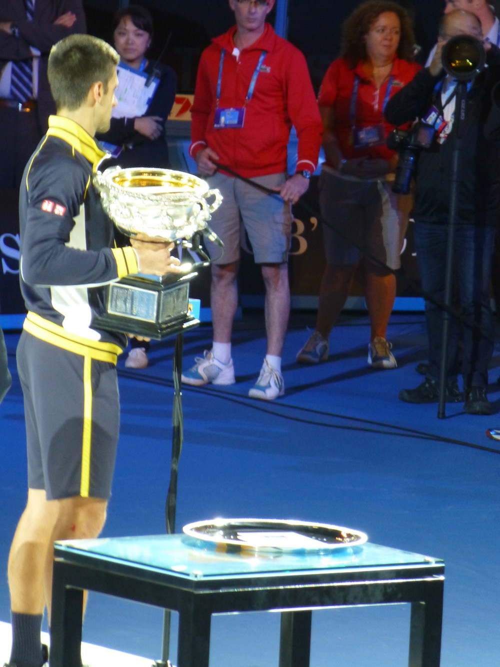 Novak with his trophy