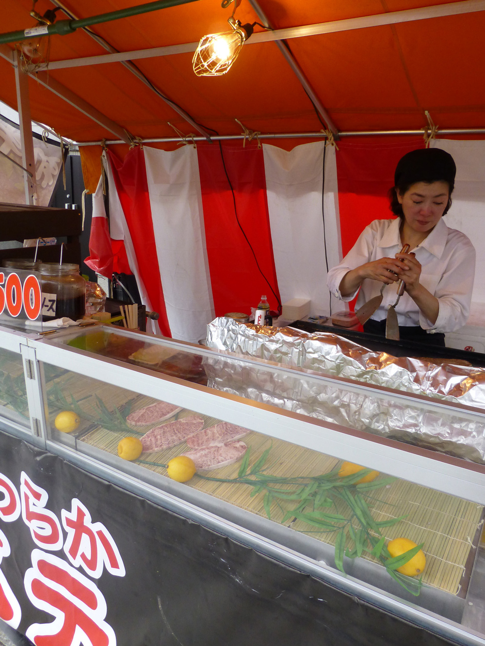 The wagyu steak stall