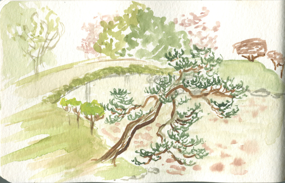 Sketch of Shurakuen Garden