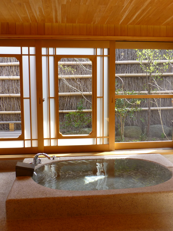 Our private bath. The bathing space was large and luxurious and included a daybed to unwind on.