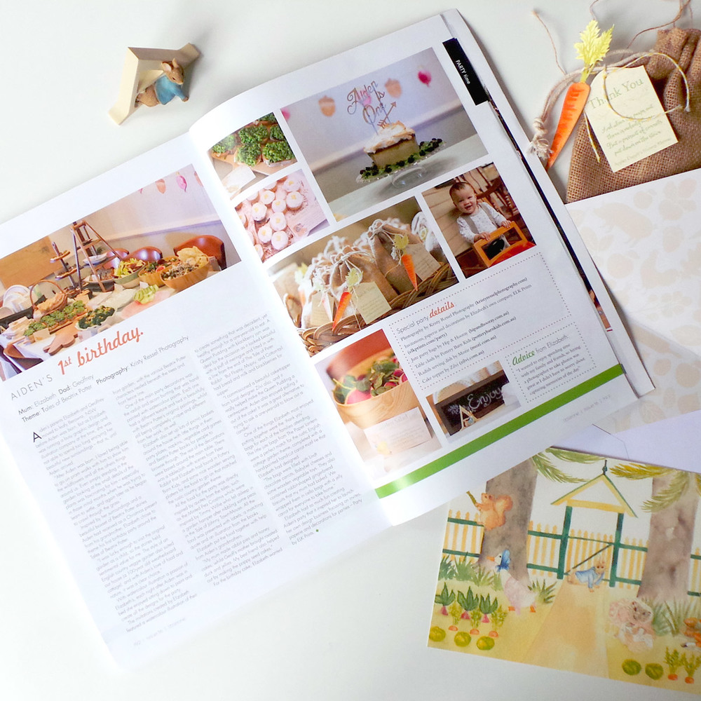 Aiden's Beatrix Potter Party as featured in Little One Magazine
