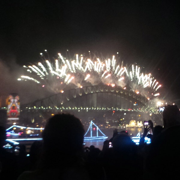 A 'tiara' of fireworks