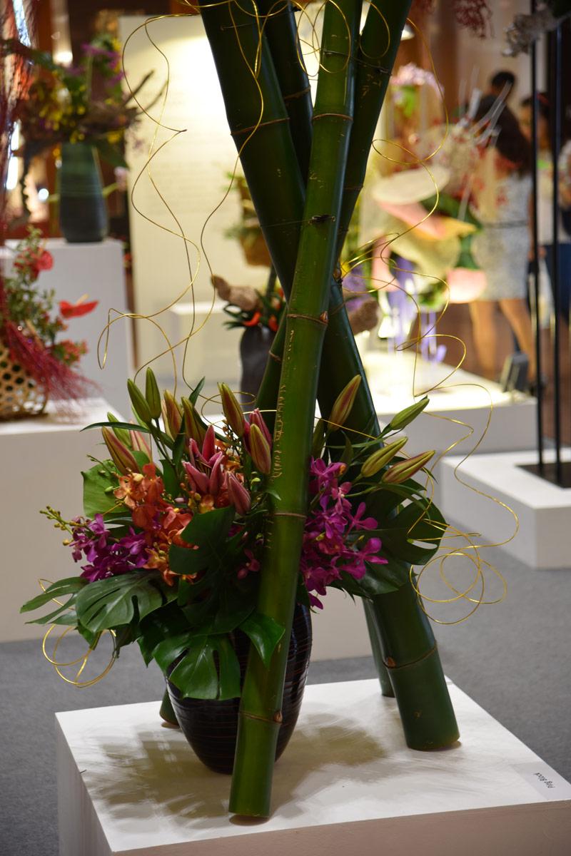 Ikebana displays at Takashimaya, Orchard Road Singapore.