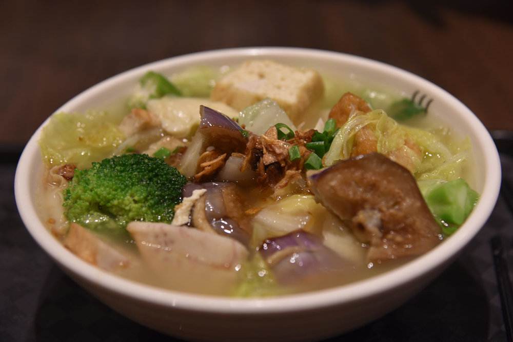 Yong Tau Foo for lunch - I love picking out the fresh veggies and stuffed tofu pieces to make your own soup combo from.
