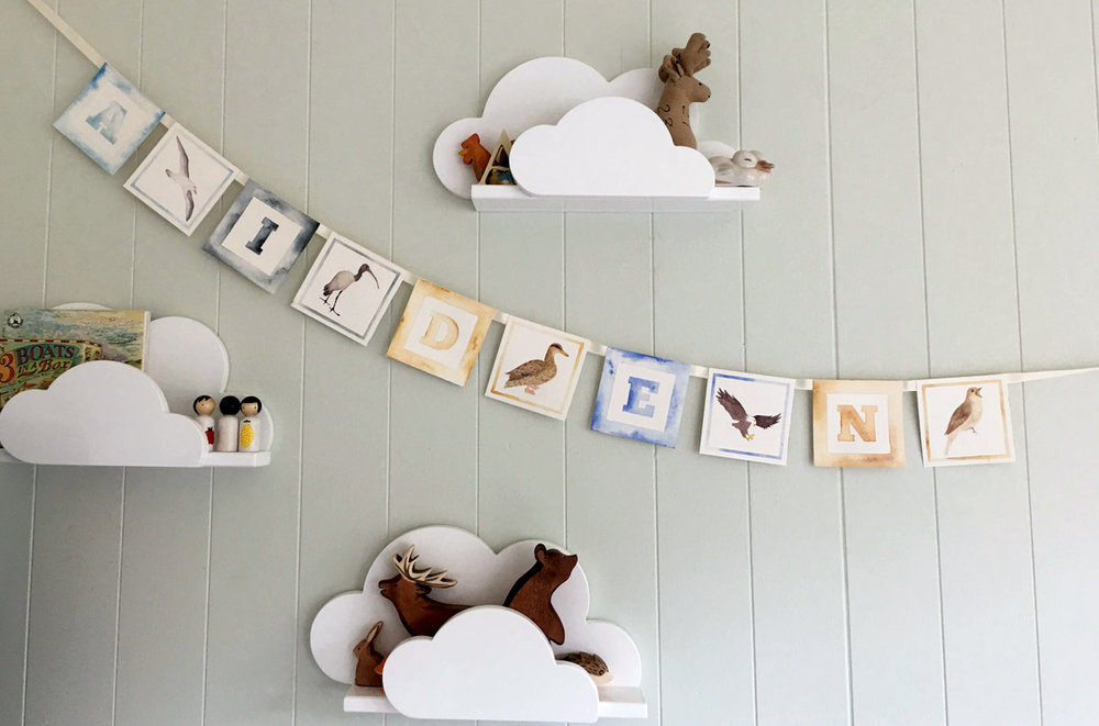 Nursery-custom-name-bunting-decor