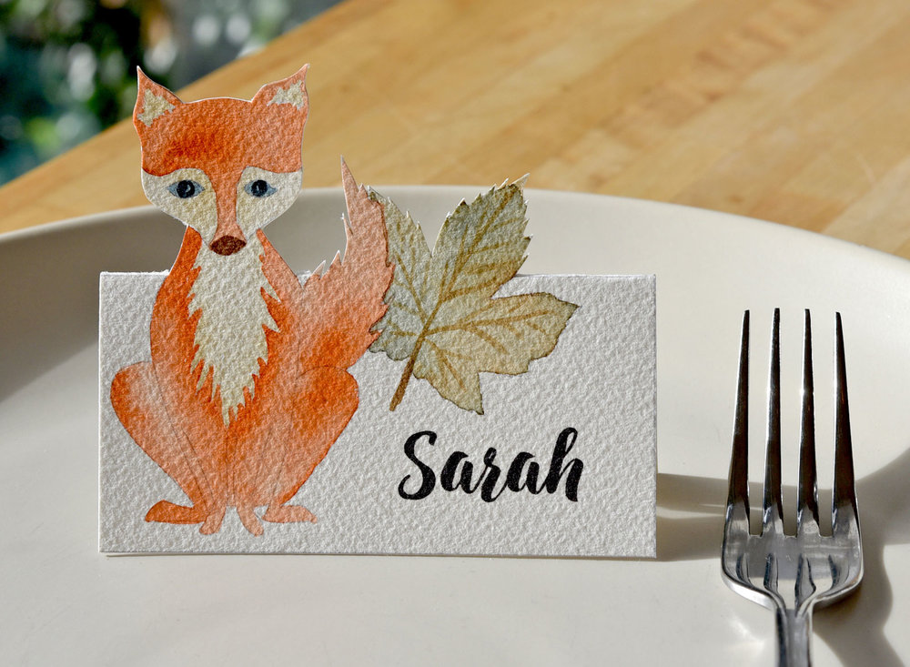 handpainted-placecard-fox