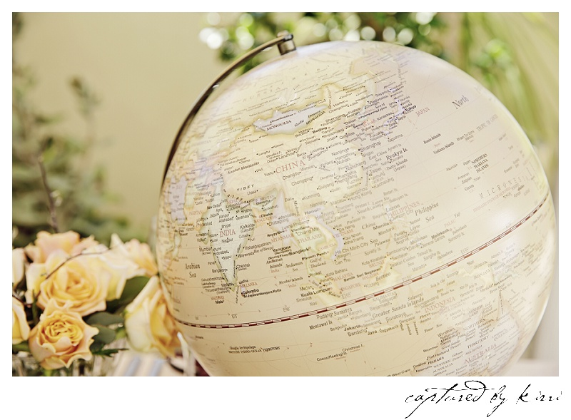 Creamy earthy yellow roses complement this gorgeous globe.