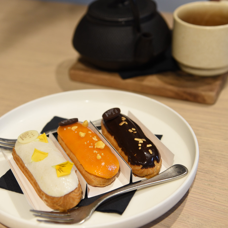 A trio of eclairs - this is one of the specialities of the house and from our observations they sell out quick so go early.