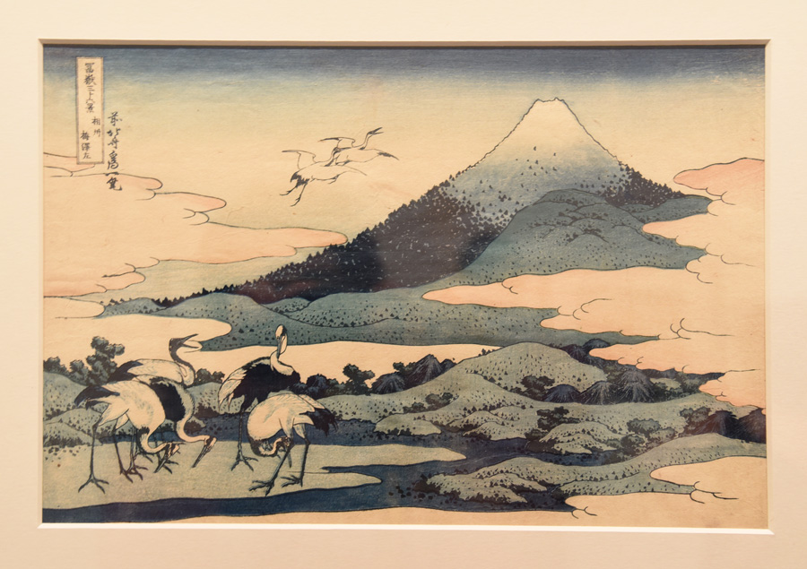 Umezawa hamlet fields in Sagami Province  from the  Thirty-six Views of Mt Fuji  series by Hokusai