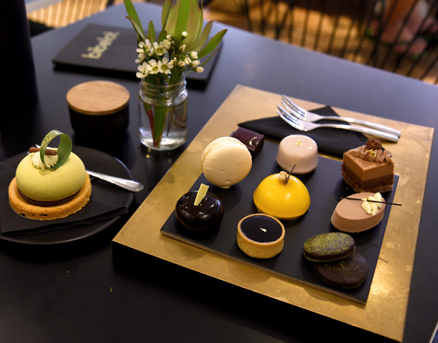 The array of sweet treats at Bibelot, South Melbourne.