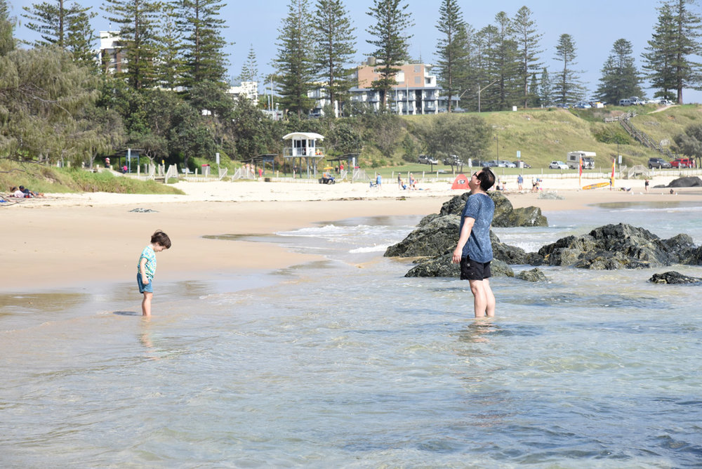 Splashing in the water at Town Beach, Port Macquarie