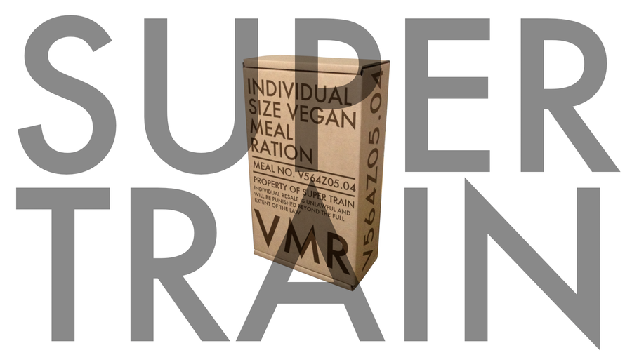 Super Train is coming. Eat up.