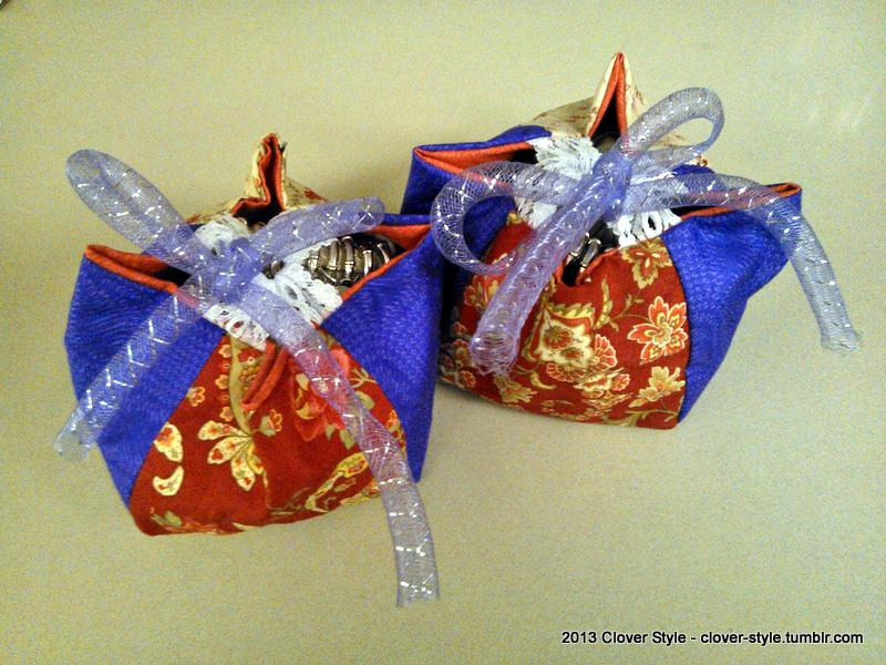 Cute small bags! This was made for friends,as a Christmas present.
