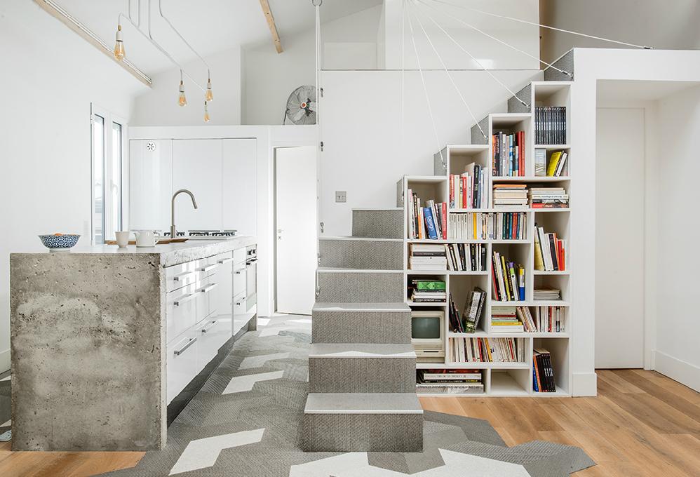 112belleville priv loft multiarchi - Forme escalier interieur ...