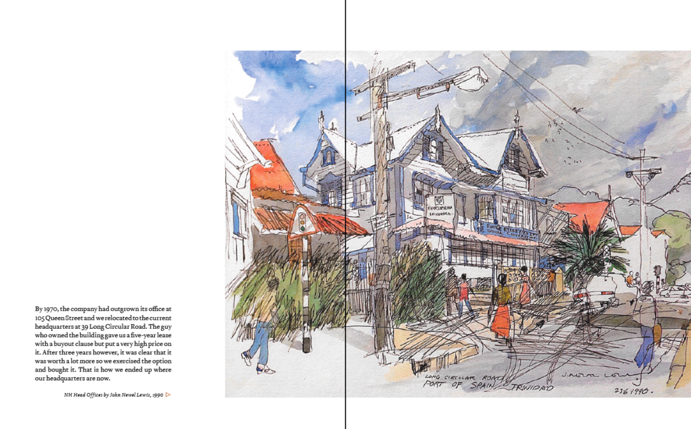 A spread from one of our books.