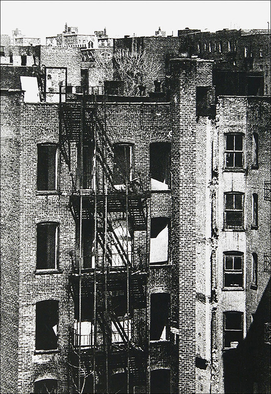 """Empty Windows    Photo etching  15"""" x 22""""    © 1982 Mary Trevor. All rights reserved."""