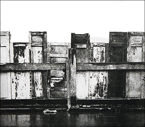 """More Doors    photo etching  17"""" x 15    © 1982 Mary Trevor. All rights reserved."""