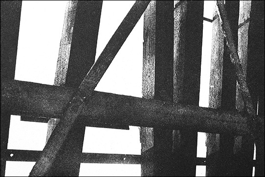 """Untitled (RR Ties)    Photo etching  8"""" x 11""""    © 1982 Mary Trevor. All rights reserved."""