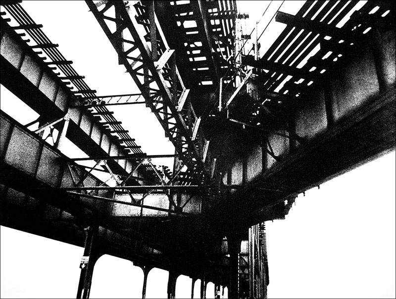 "Under the El    Photo etching  18"" x 24 """